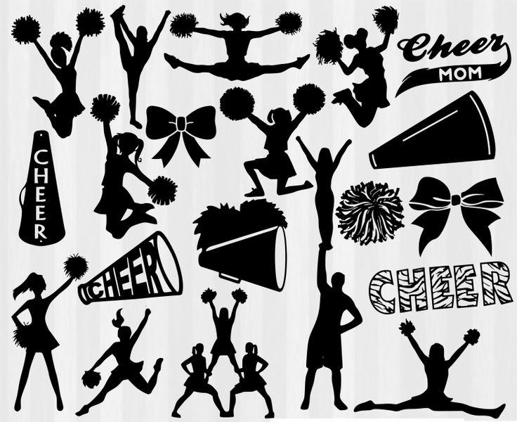 Cheerleader clipart svg.  best cheer images