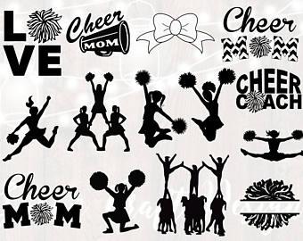 Etsy . Cheerleader clipart svg