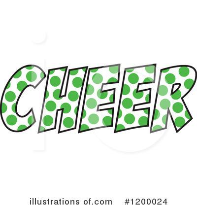 Illustration by johnny sajem. Cheerleading clipart green