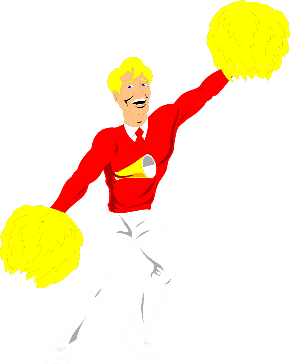Male clipart corporate man. Cheerleader