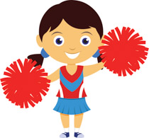 Cheerleading clipart. Free clip art pictures