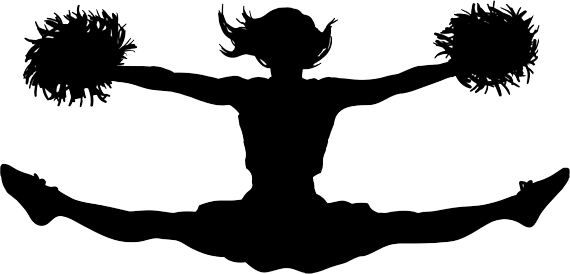 Cheerleading jump png stickpng. Cheer clipart transparent background