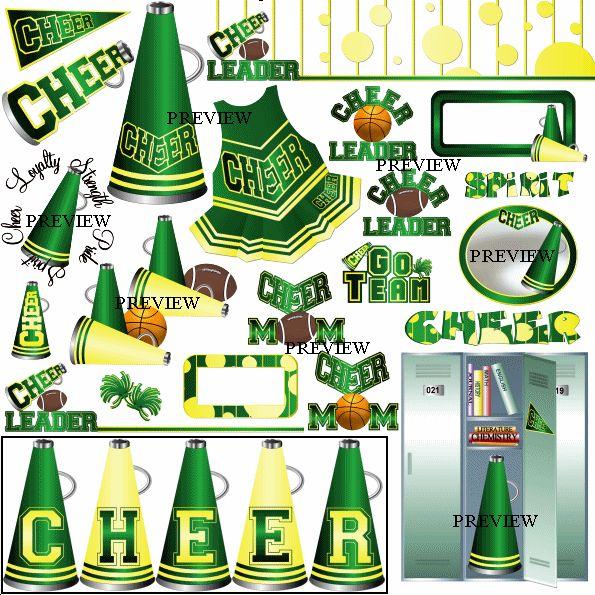 best cheerleaders images. Cheerleading clipart green