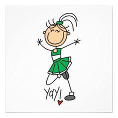 Cheerleading clipart green.  best clip art
