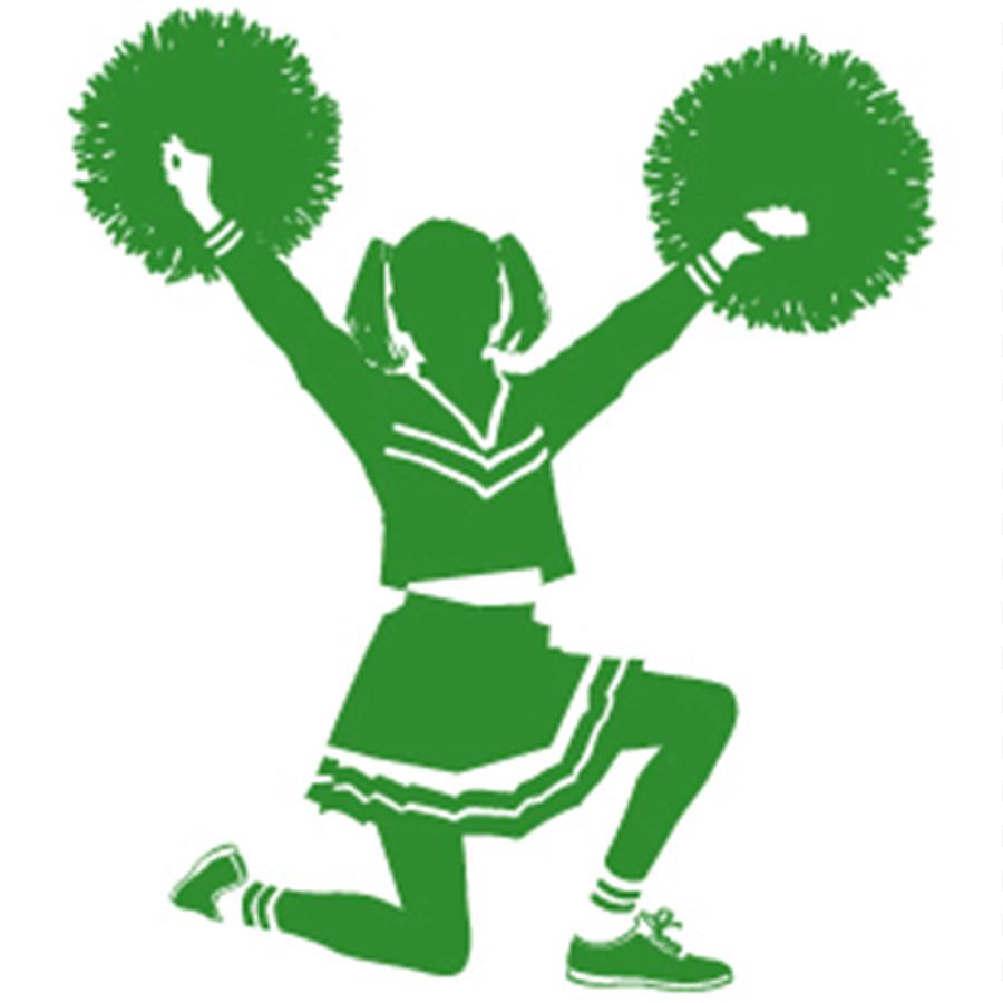 Tampa catholic high school. Cheerleading clipart green