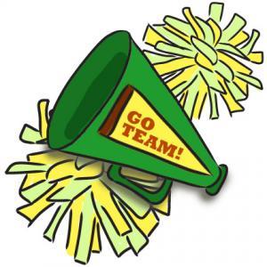 Cheerleading clipart green. Cheer megaphone panda free