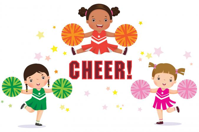 Cheers clipart animated. Cheerleading cartoons lovetoknow