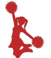 bhs cheerleaders photo. Cheer clipart red