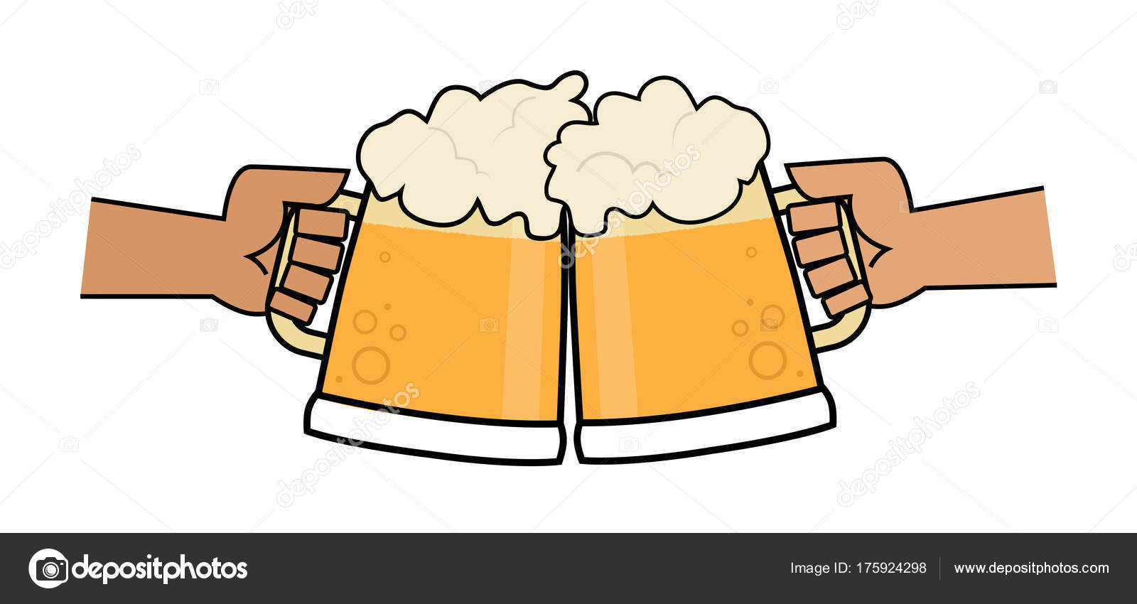 Beer clip art two. Cheers clipart