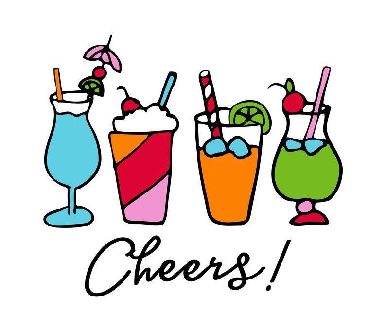 Svg cocktail drinks cutting. Cheers clipart