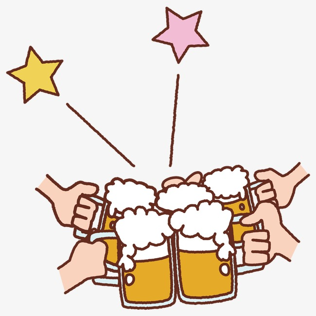 Cheers clipart. Beer cup get together