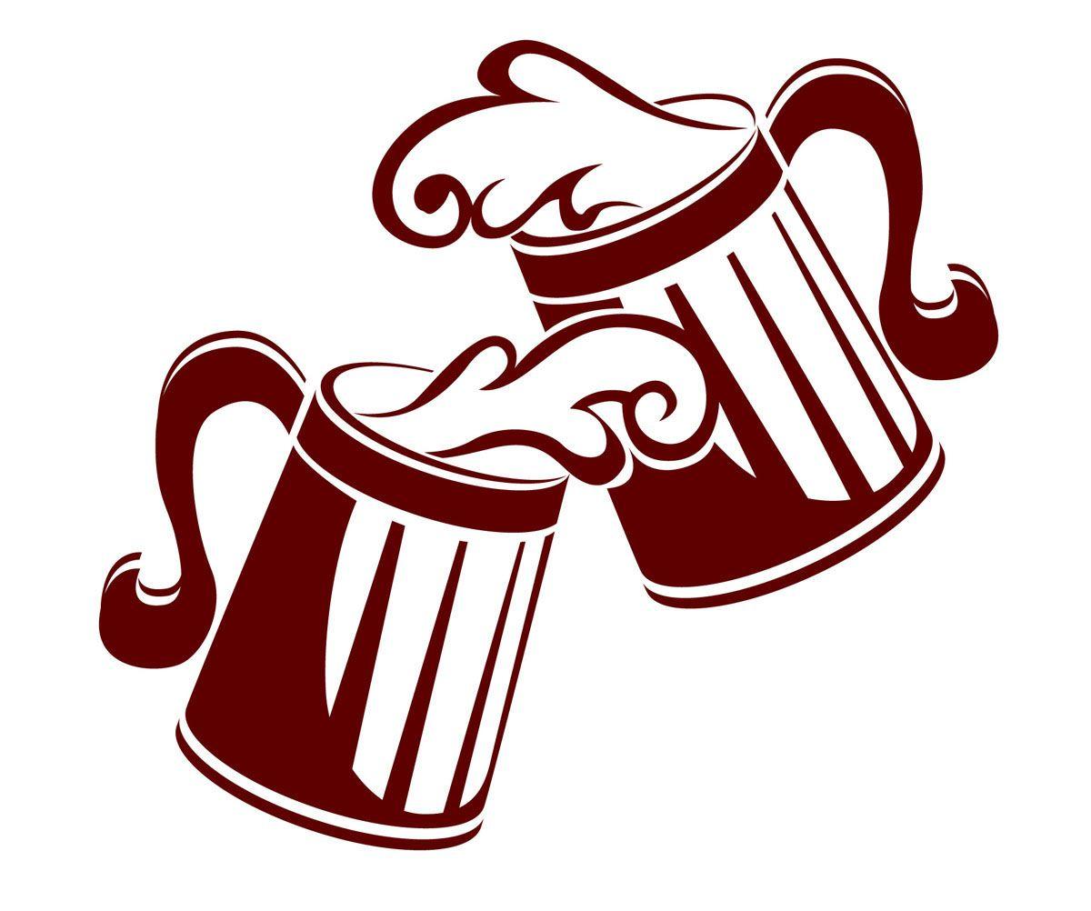 Cartoon clip art black. Cheers clipart beer mug