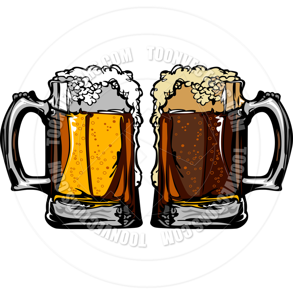 Cheers clipart beer mug. Root glass pencil and