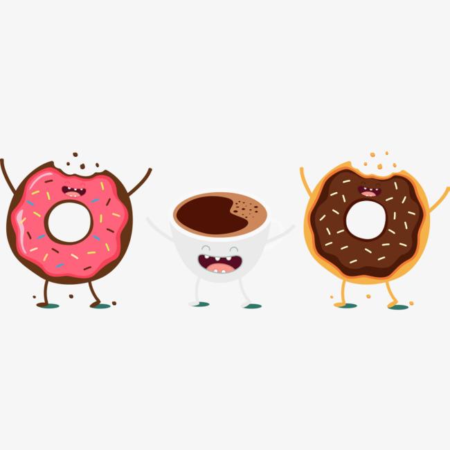 Cartoon cheering afternoon tea. Cheers clipart coffee