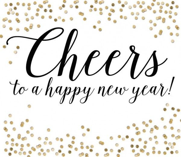 Cheers clipart new year. Years party in a