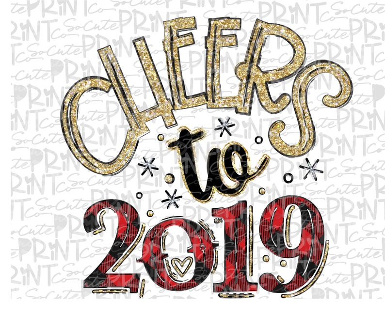 Years to png file. Cheers clipart new year