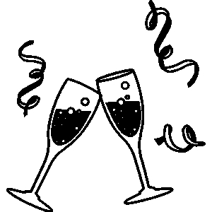 Cheers clipart new year. Cheer clip art merry