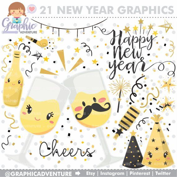 Happy christmas graphics . Cheers clipart new year