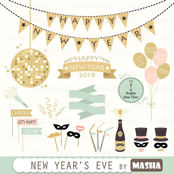 S eve with . Cheers clipart new year
