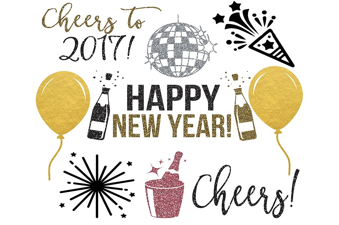 Cheers clipart new year. Years png jpeg svg