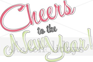 To the years eve. Cheers clipart new year