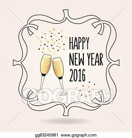 Cheers clipart new years eve. Eps illustration abstract happy