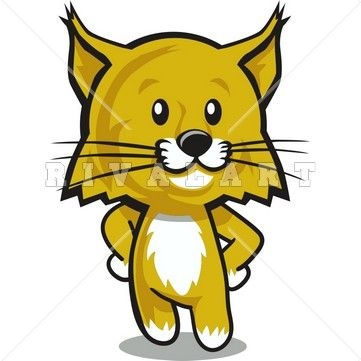 Wildcat clipart cute. Image of a cub