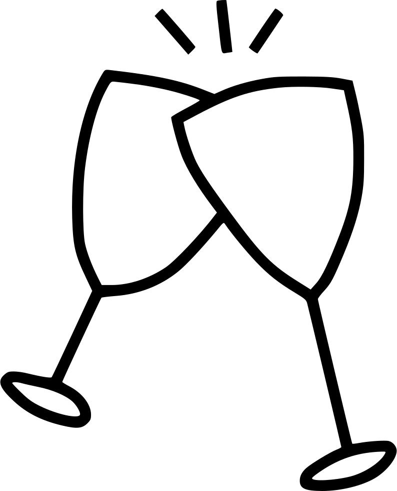 Wine cup drawing at. Drinks clipart cheer