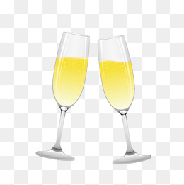 Champagne png vectors psd. Cheers clipart wine glass