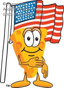 Cheese clipart american cheese. Cartoon with the flag