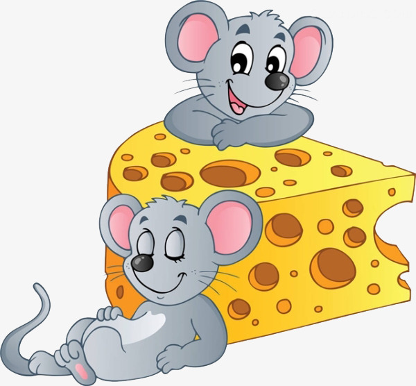 Relying on little mouse. Cheese clipart animated