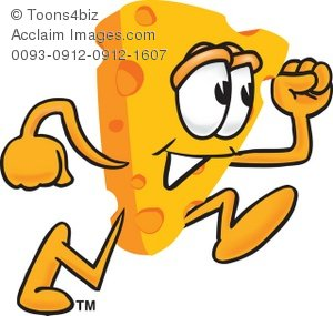 Cartoon running . Cheese clipart animated