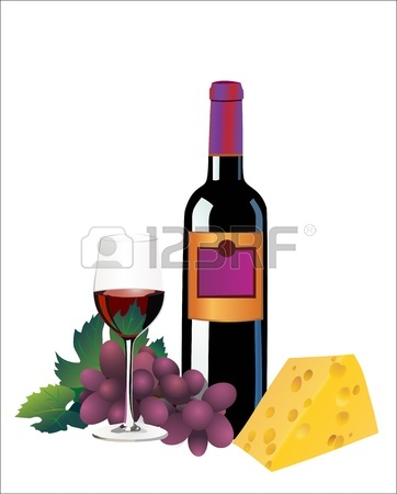 Wine and black white. Cheese clipart border