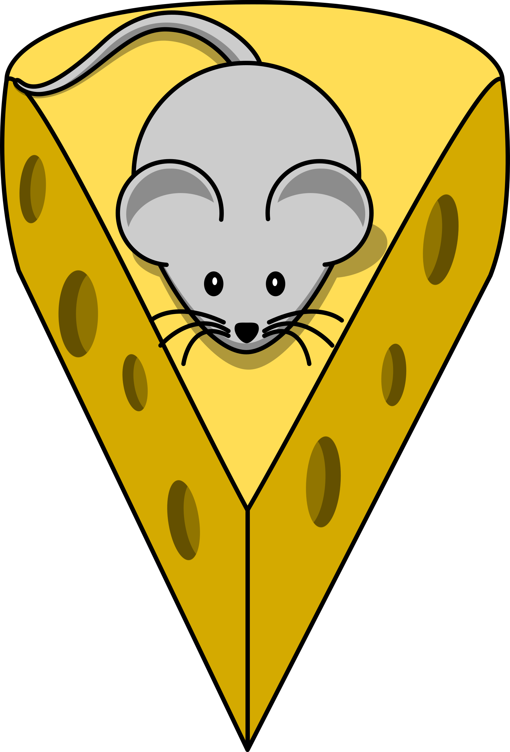 Clipart mouse simple. Cartoon on top of