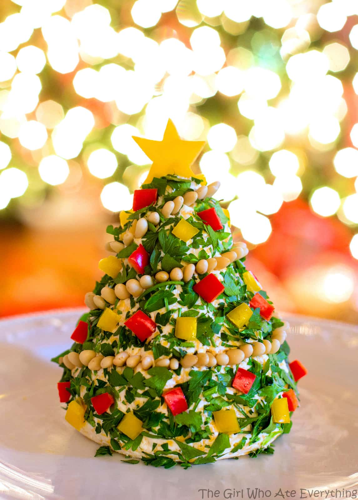 Christmas tree the girl. Cheese clipart cheese ball