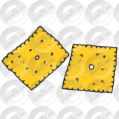 Cheese clipart cheese cracker. Crackers picture for classroom