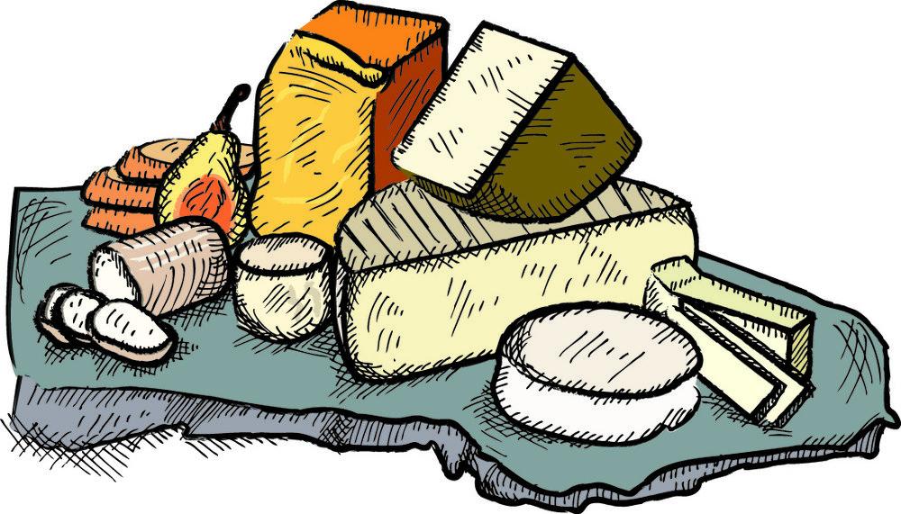 Cheese clipart cheese platter. Illustrations mia bjarnason platterjpg