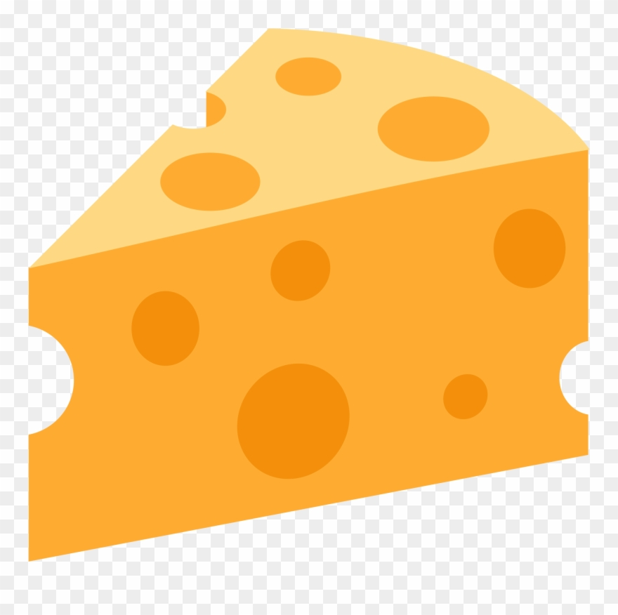 Cheese clipart cheese wedge. Dairy emoji png transparent
