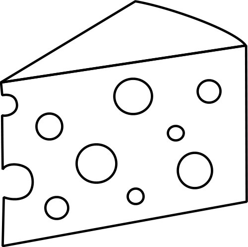 Cheese clipart drawing. Amazing of slice black