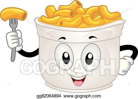 Vector art mascot mac. Cheese clipart drawing