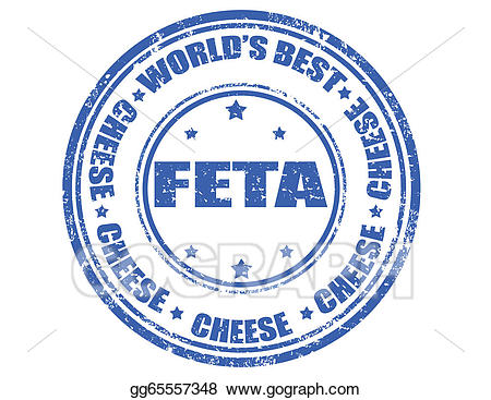 Vector stamp illustration gg. Cheese clipart feta cheese