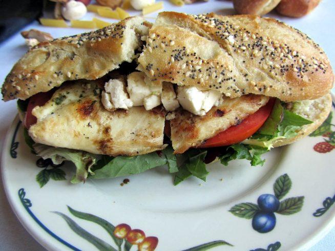 Cheese clipart feta cheese. Chicken pesto sandwich recipegreat
