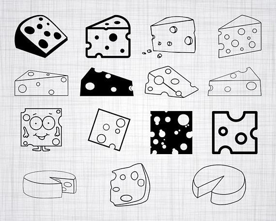 Cheese clipart silhouette. Svg bundle cut files