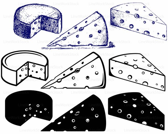 Svg . Cheese clipart silhouette