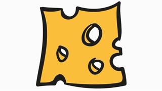Slice cartoon illustration hand. Cheese clipart transparent background