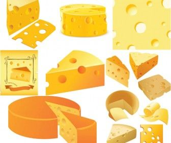 Food of happiness in. Cheese clipart vector