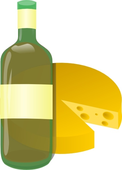 Wine and clip art. Cheese clipart vector