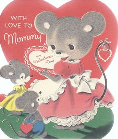Mouse and free valentine. Cheese clipart vintage