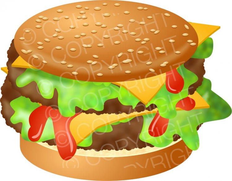 Delicious burger ketchup prawny. Cheese clipart vintage