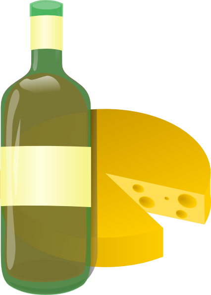 Wine and black white. Cheese clipart winery